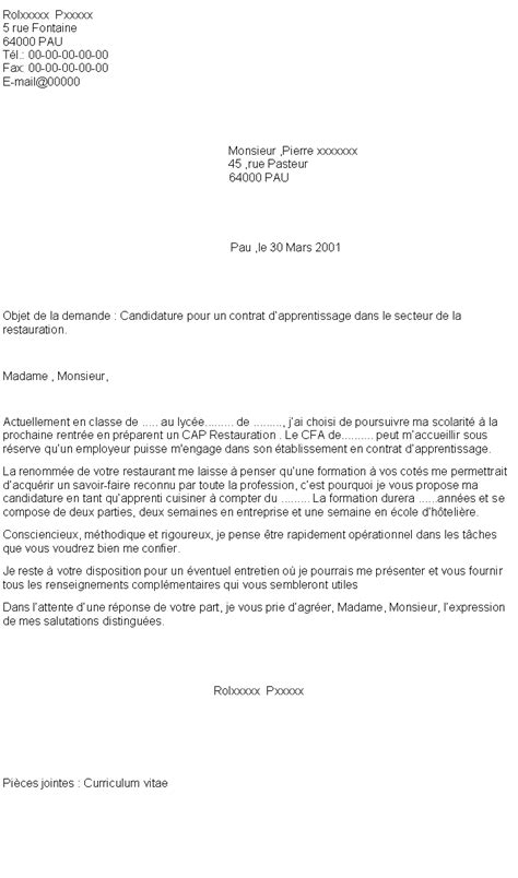 Lettre De Motivation De Apprentissage 6 Lettre De Motivation Apprentissage Cuisine Format Lettre