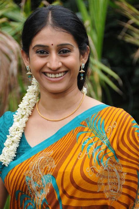 telugu actress tv telugu tv serial actress meena in yellow saree picture