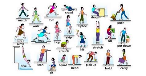 imagenes en ingles verbos 100 verbos en ingl 233 s de movimiento y acci 243 n
