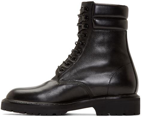 laurent mens boots laurent black leather high combat boots in black for