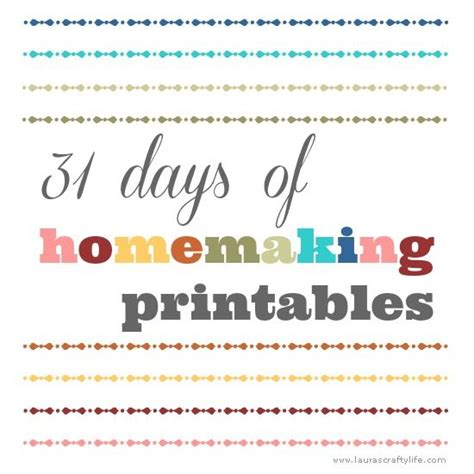 free printable homemaking journal 30 best images about 31 days of homemaking printables on