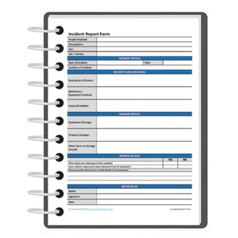 incident report register template incident report form template darley pcm