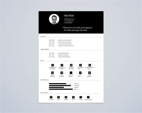 editable templates for blogger 30 free beautiful resume templates to download hongkiat