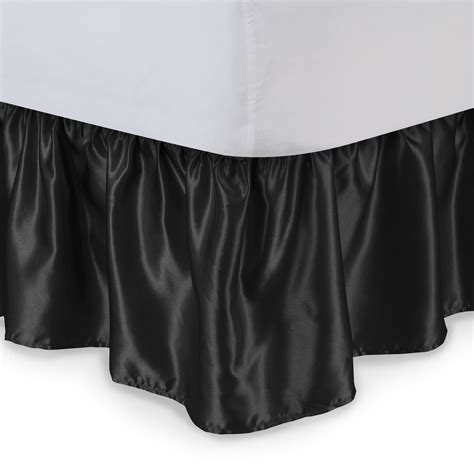 queen size bed skirts sweet dreams queen size satin ruffled bed skirt 18 inch