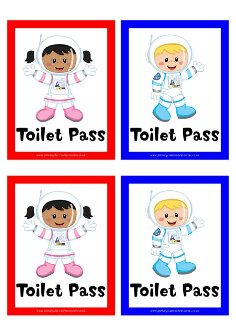 classroom bathroom passes astronaut toilet pass digital download dd pcr01239
