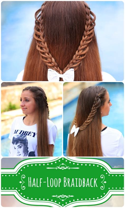 pictures of cute back to school hairstyles half loop braidback back to school hairstyles cute