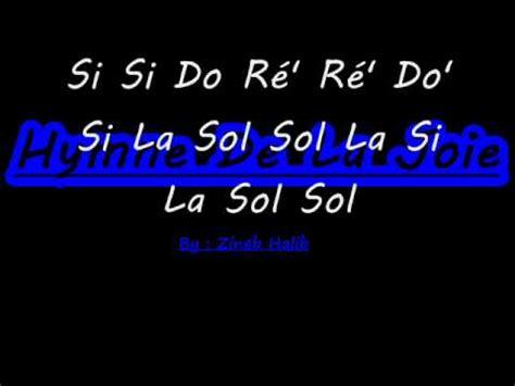 Make Up La Ode Yusuf hymne de la joie beethoven flute 224 bec zineb halib