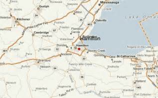 Hamilton Canada Map by Hamilton Location Guide
