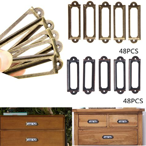 Drawer Label Holders by 48pcs Antique Brass Drawer Label Pull Frame Handle File