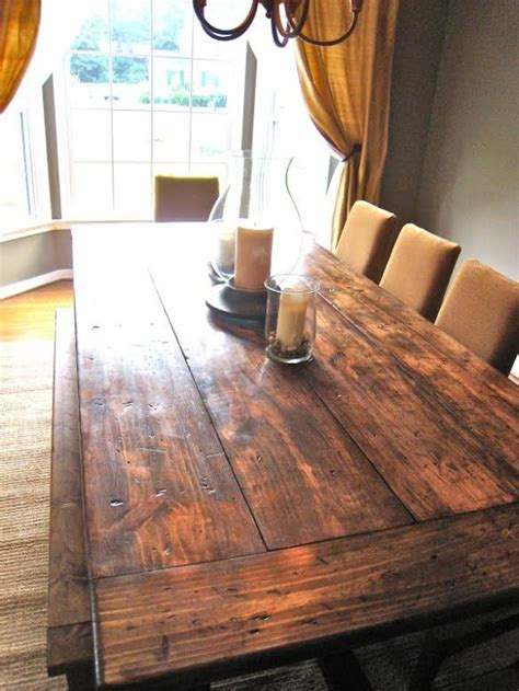 How To Make A Diy Farmhouse Dining Room Table Restoration Building Your Own Dining Room Table