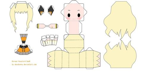 Chibi Papercraft - chibi vocaloid seeu papercraft by tsunyandere on