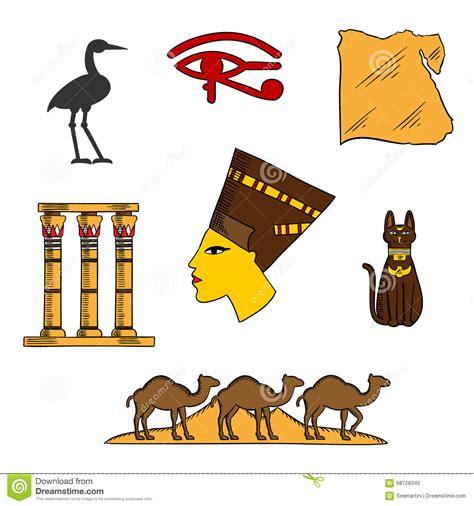 imagenes mitologicas egipcias egyptian religious and culture symbols stock vector