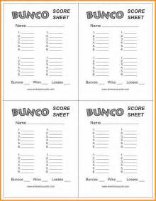 9 free bunco score sheets cook resume
