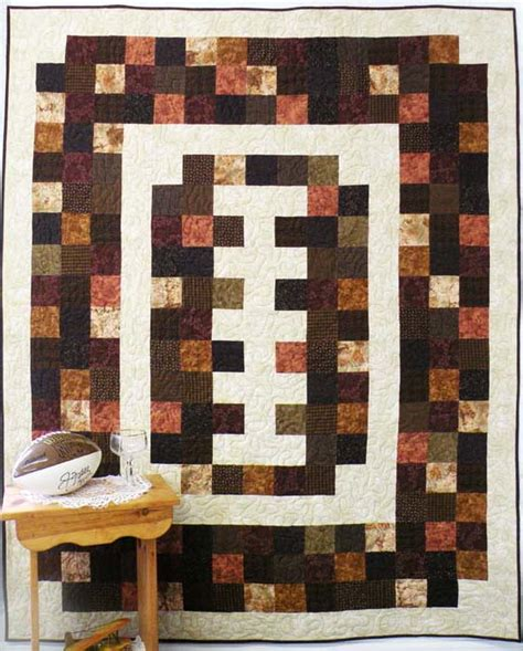 Flannel Quilt Pattern by Football Flannel Quilt Pattern Bs2 349 Advanced Beginner