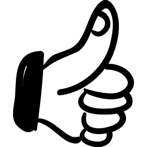 imagenes de manos haciendo ok pulgar hacia arriba s 237 mbolo hecho a mano iconos gratis