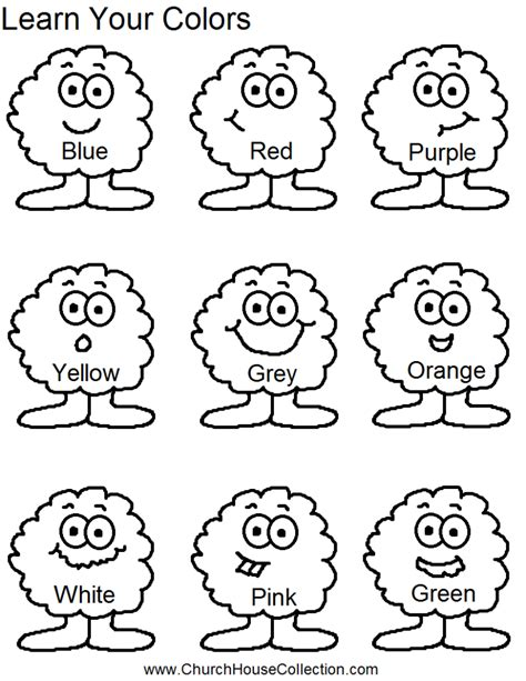 coloring book for learning colors coloring pages learn your colors for preschool headstart