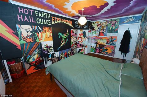 The Room Flash mural covered mill hill home of simon edwards for 163 1 300 pcm daily mail