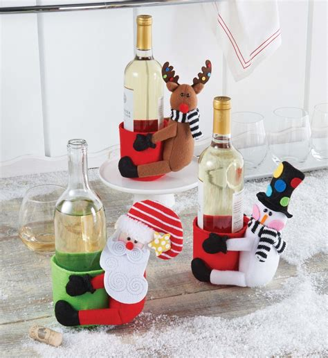 wine bottle kitchen decor mud pie santa co kitchen wine bottle decor gift holder 429l005 ebay