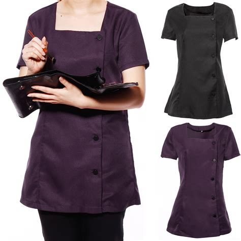 Work And Pray Tunic 1 spa tunic salon nail dentist therapist workwear ebay
