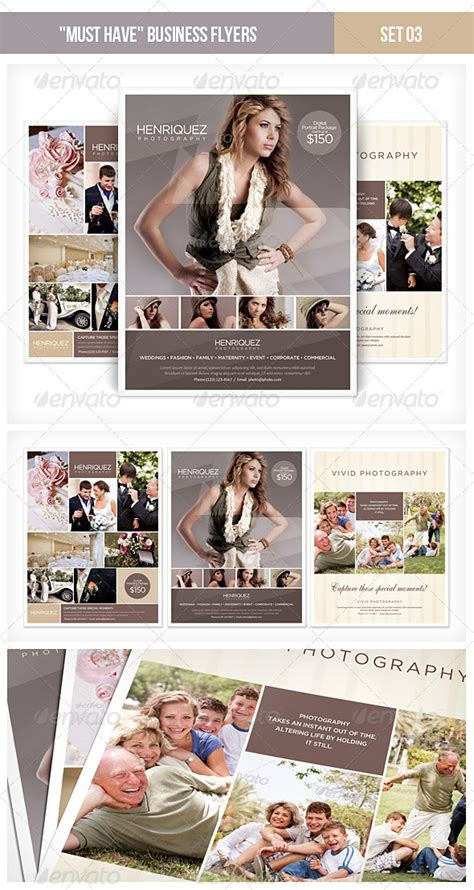 photography advertisement layout quot must have quot business flyers set 03 photography