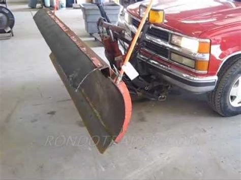 western unimount snow plow  tahoe  sold youtube