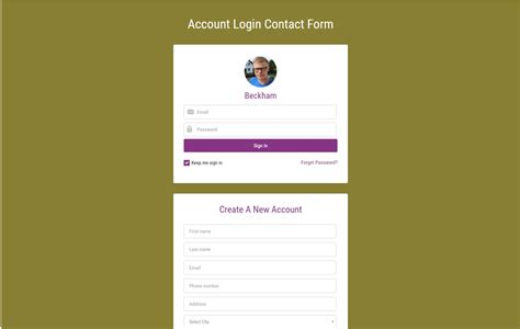 login responsive template 90 best free html5 form templates 2017