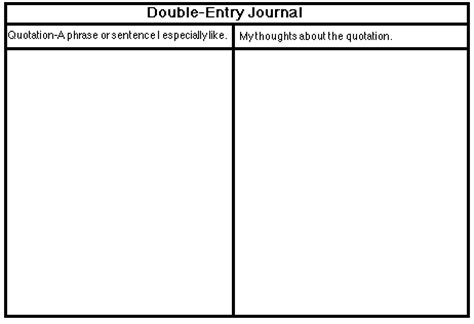 printable double entry journal contentareawriting journals and learning logs