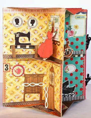 How To Fold Paper For Paper Dolls - folding book house marla s page