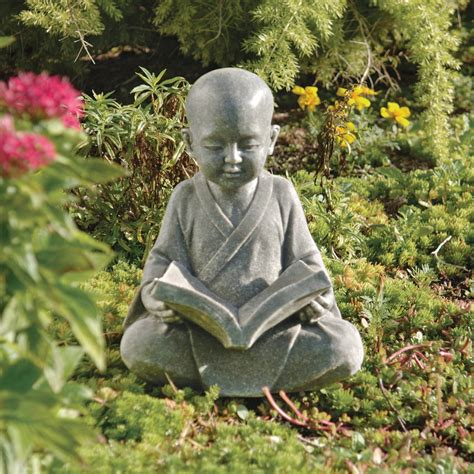 Garden Statues by Baby Buddha Reading Book Garden Statue Garden Buddha