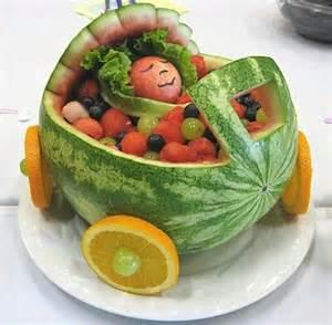 Watermelon Crib For Baby Shower Watermelon Baby Bassinet Baby Shower Food Food Stuffs