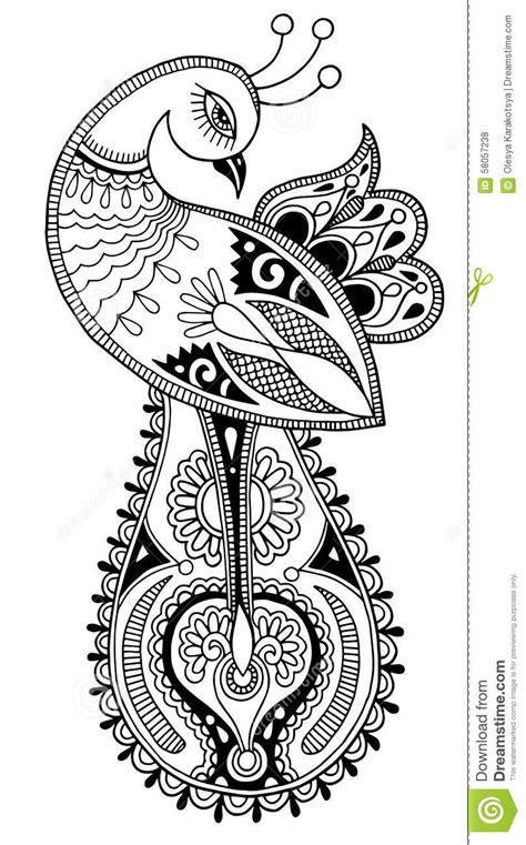 imagenes en blanco ynegro para dibujar dibujo 233 tnico decorativo del pavo real blanco y negro