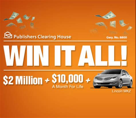 Submit Sweepstakes - win cash prizes on pch win it all sweepstakes contestbank