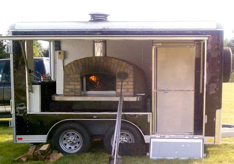Oven Mobil wood fired pizza oven on a trailer outdoor furniture design and ideas