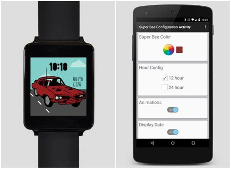 android auth illustration faces 2 brings cars scooters and headphones to your android wear device