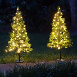outside trees with lights outdoor decorations 2 walkway pre lit winchester fir
