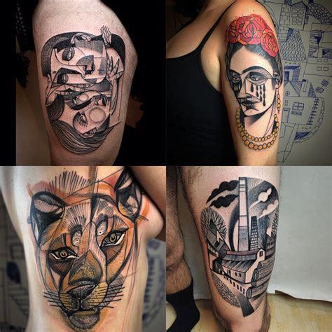 berlin tattoo the cubist inspired tattoos of berlin artist