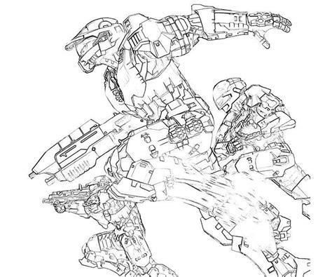 Halo 4 Coloring Pages by Halo 4 Trooper Actions Yumiko Fujiwara