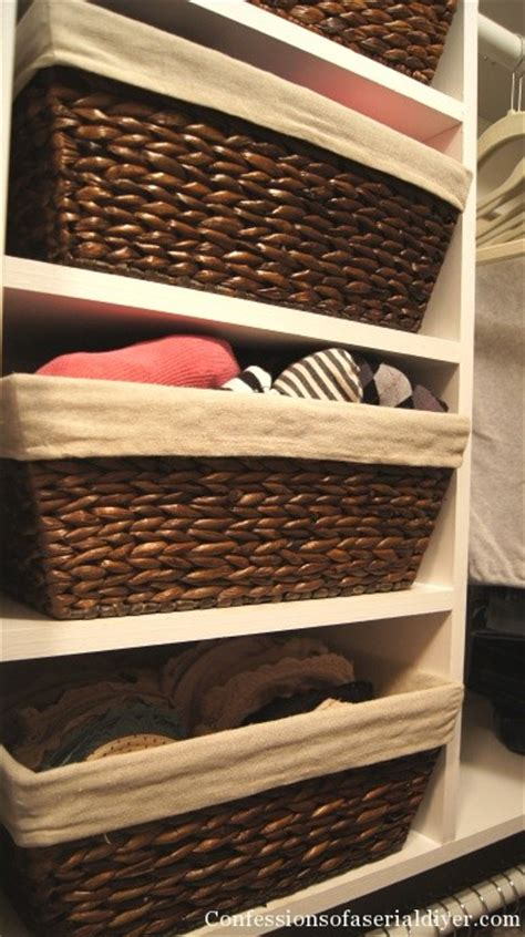 baskets in closet confessions of a serial do it yourselfer