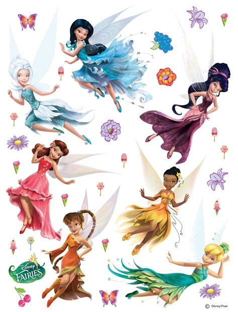 Disney Fairy Wall Stickers disney wall sticker decoration fairy tinkerbell 65x85cm