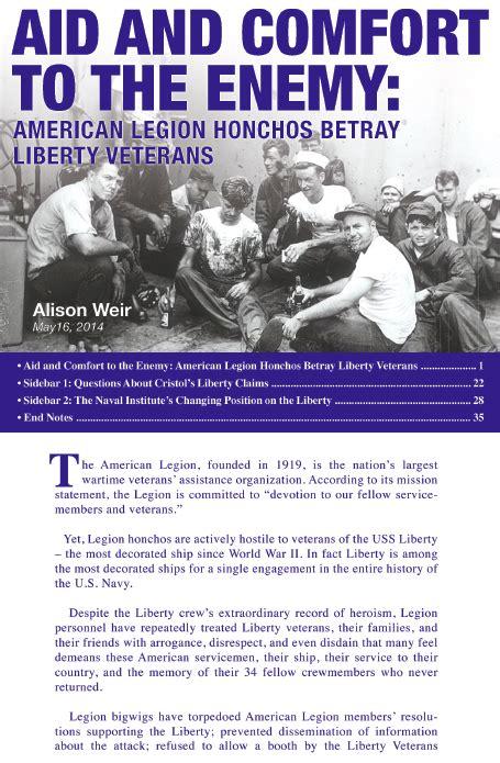American Legion Honchos Betray Liberty Veterans