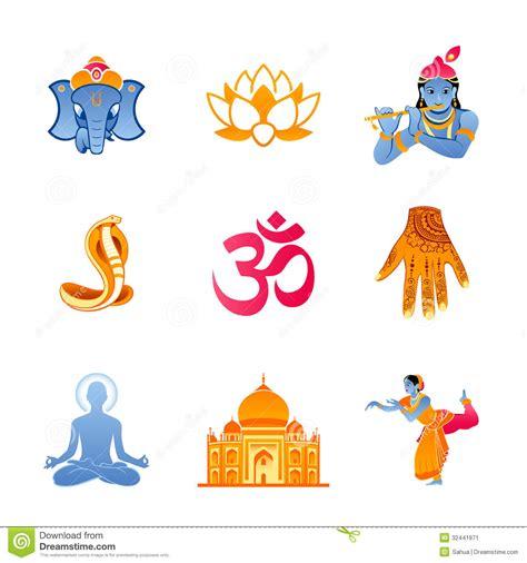imagenes espirituales de la india iconos de la india imagen de archivo imagen 32441971