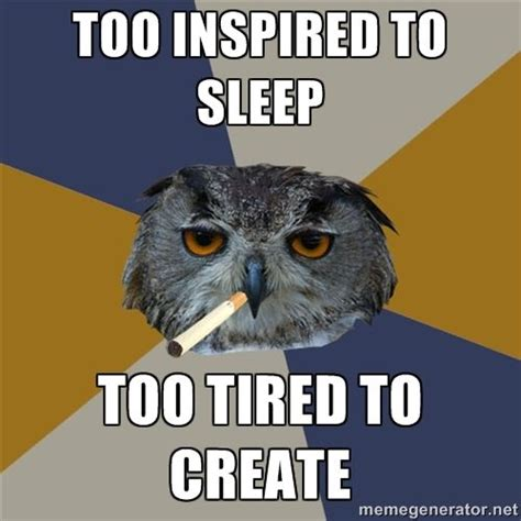 Art School Owl Meme - art student owl