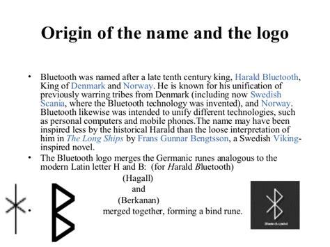 origin of the word bluetooth technology