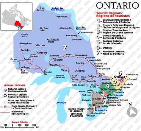 Dual Mba Programs In Canada by Map Of Ontario Click On A Tourist Region