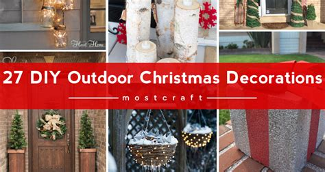 Home Made Outdoor Christmas Decorations by 27 Diy Outdoor Christmas Decorations To Light Up Your Home