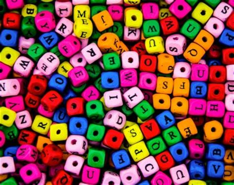 lots of letters jigsaw puzzle