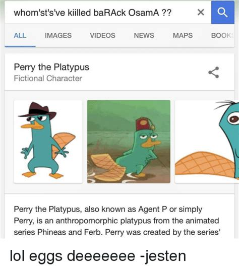 Perry The Platypus Meme - funny ferb memes of 2017 on sizzle rollers
