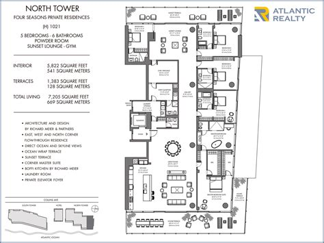 four seasons park floor plan the surf club four seasons private residences new miami