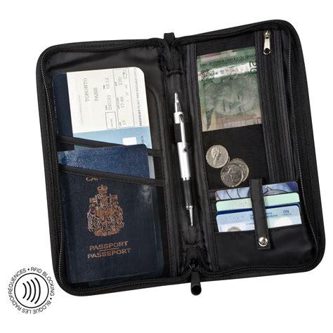 rfid blocking travel organizer wallet maple leaf travel accessories