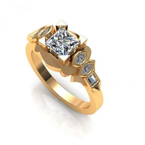 cheap 0 80ct princess and marquise and baguette cut